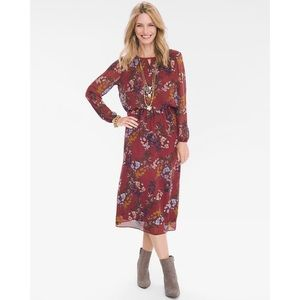 Chico's Floral Keyhole Dress